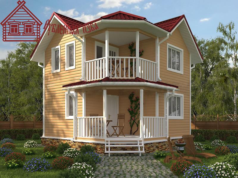 Каркасный дом 6.5x6.5 под ключ