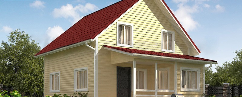 Каркасный дом 7,5x9.5 под ключ