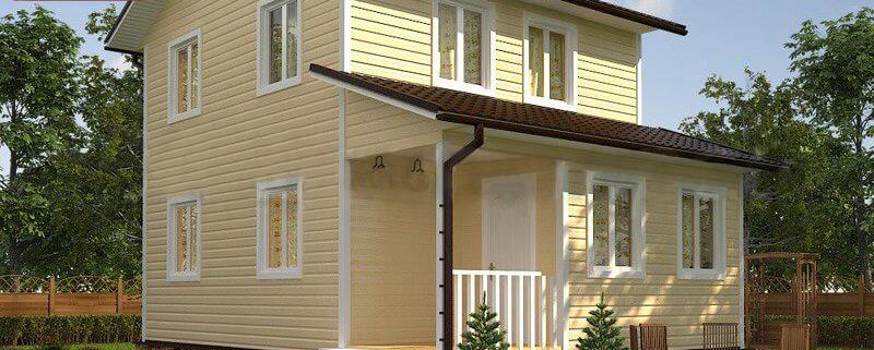 Каркасный дом 6x8 под ключ